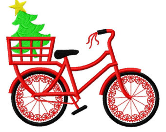 Biking clipart christmas. Free bicycle cliparts download