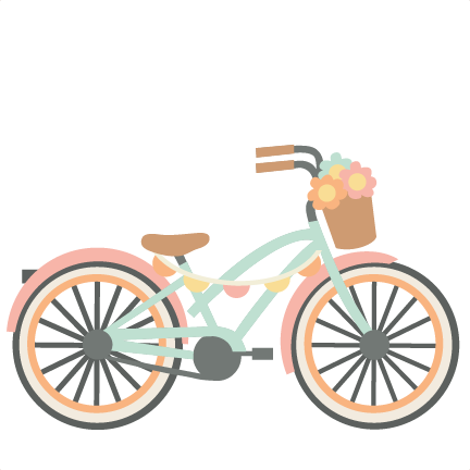 Bicycle clipart cute. Svg cutting files for