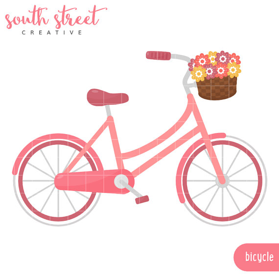 Bike clipart cute. Free pink bicycle cliparts