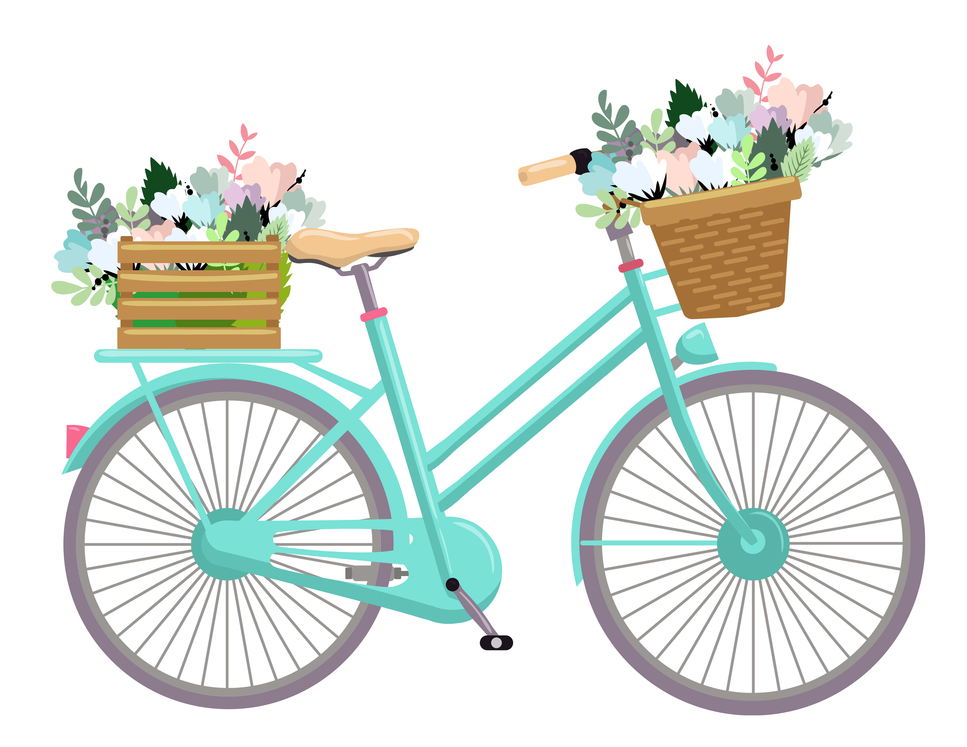 Bicycle clipart cute. Free clip art download