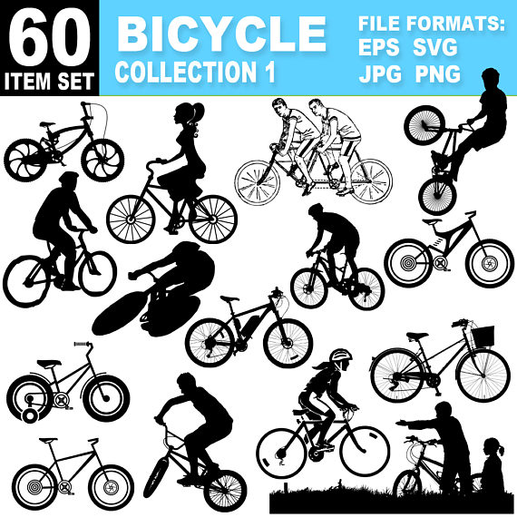 Bicycle clipart cycling. Collection images eps ai