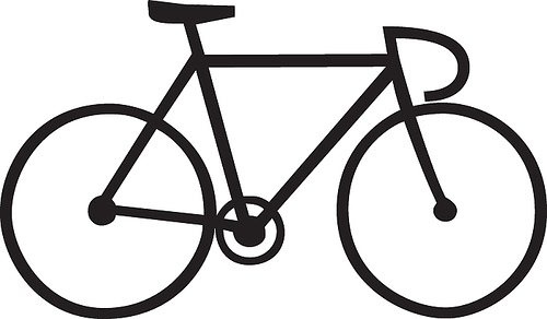collection of bike. Bicycle clipart easy