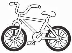Full length kids bike. Biking clipart easy