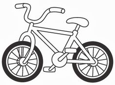 Bicycle clipart easy. Full length kids bike
