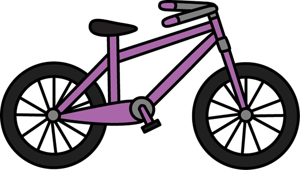 Clipart bike. Purple
