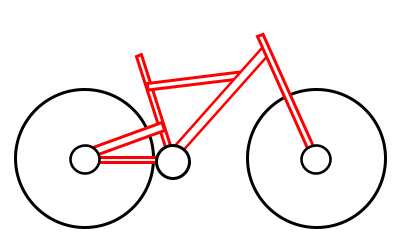 Drawing a cartoon how. Bicycle clipart easy