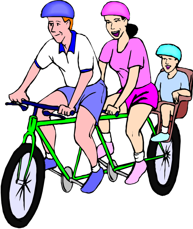 Florida biking offers reasons. Family clipart bicycle