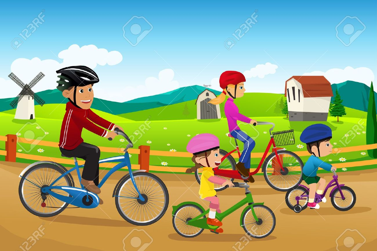 Free cliparts download clip. Clipart bicycle family