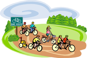 Clipart bicycle family. Free cliparts download clip