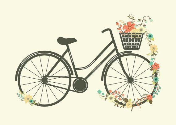 Bike clipart flower.  best sepeda clip