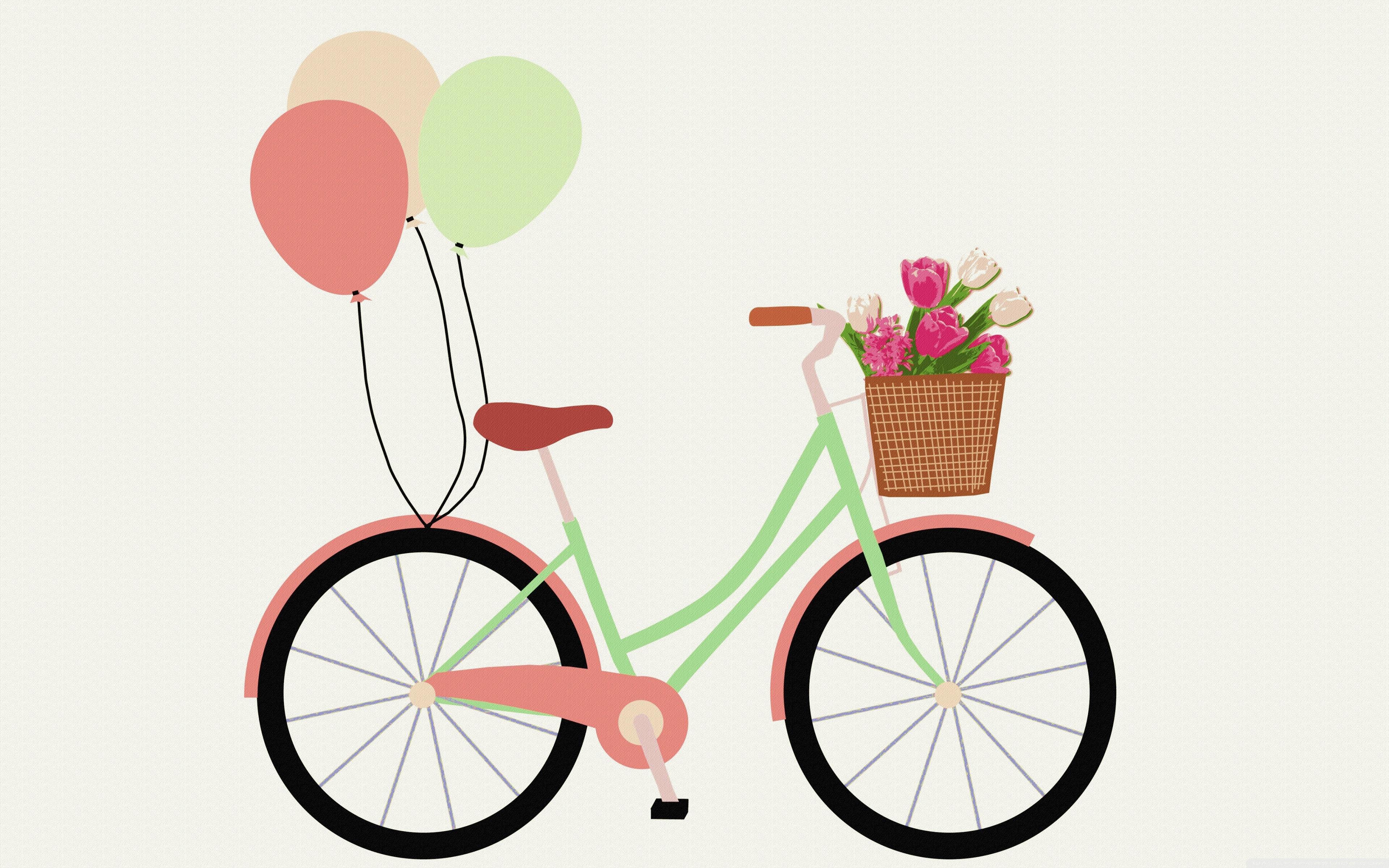 Bicycle clipart floral. Retro k hd desktop