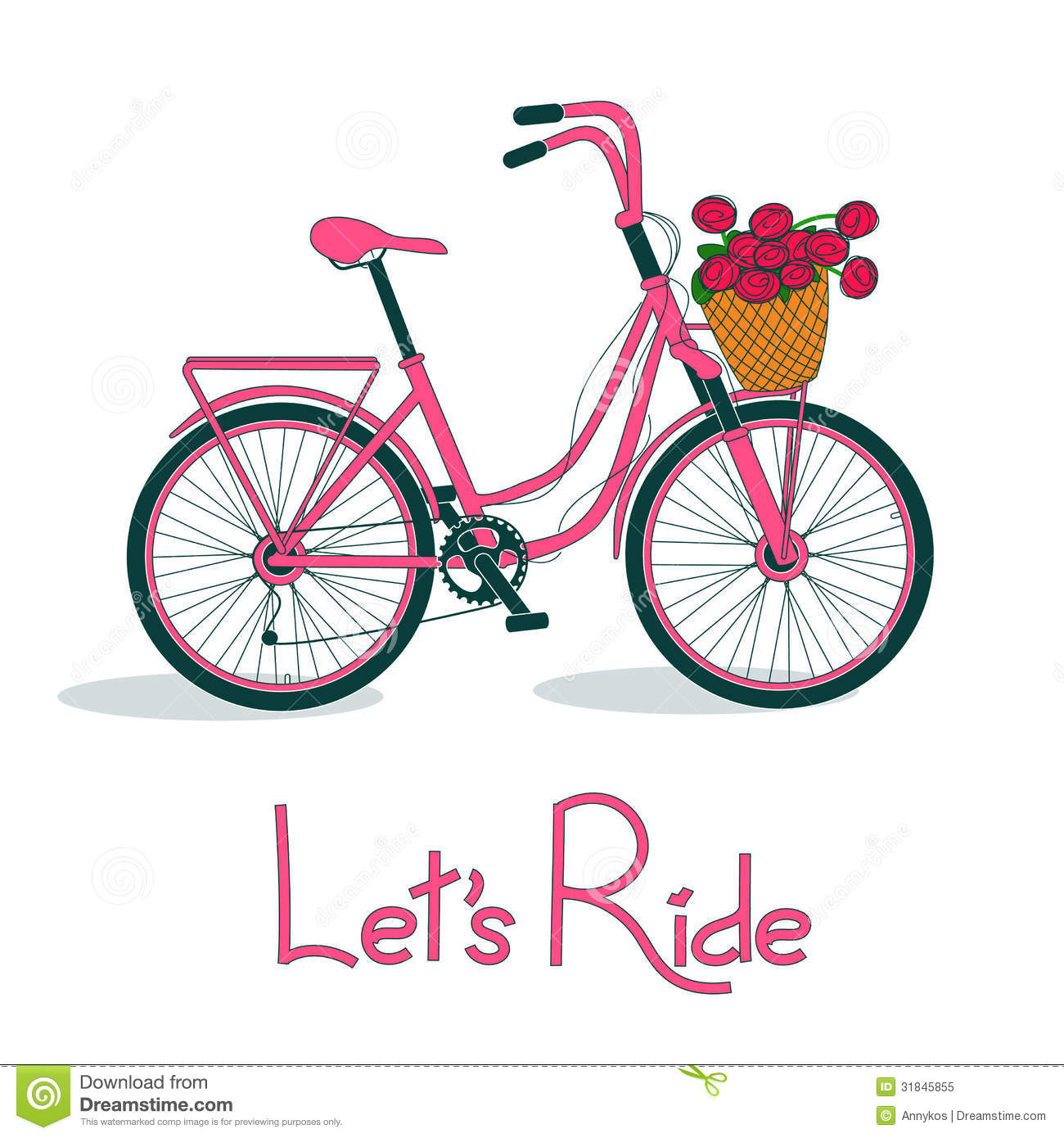 Bike clipart flower. Bicycle basket
