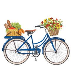 Biking clipart flower. Bikes with flowers clip