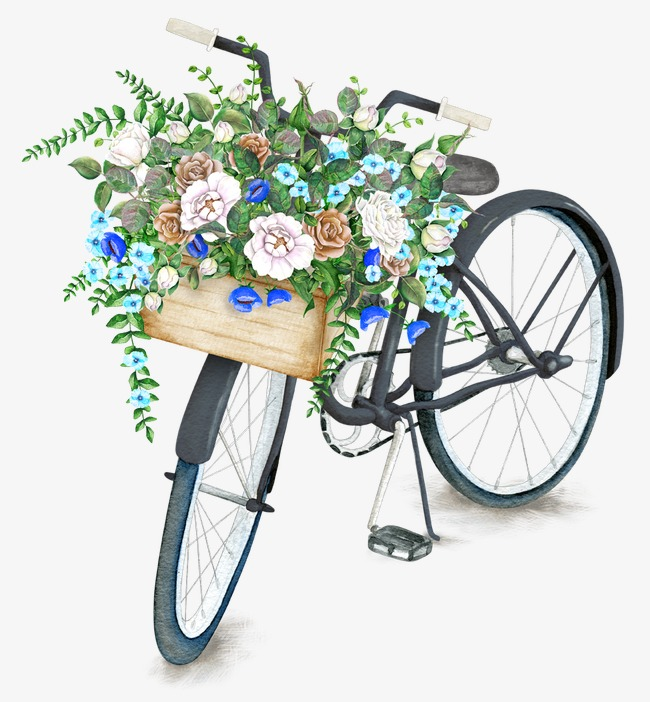 Biking clipart flower. Baskets bike beautifully basket
