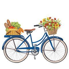 Bikes with flowers clip. Biking clipart flower