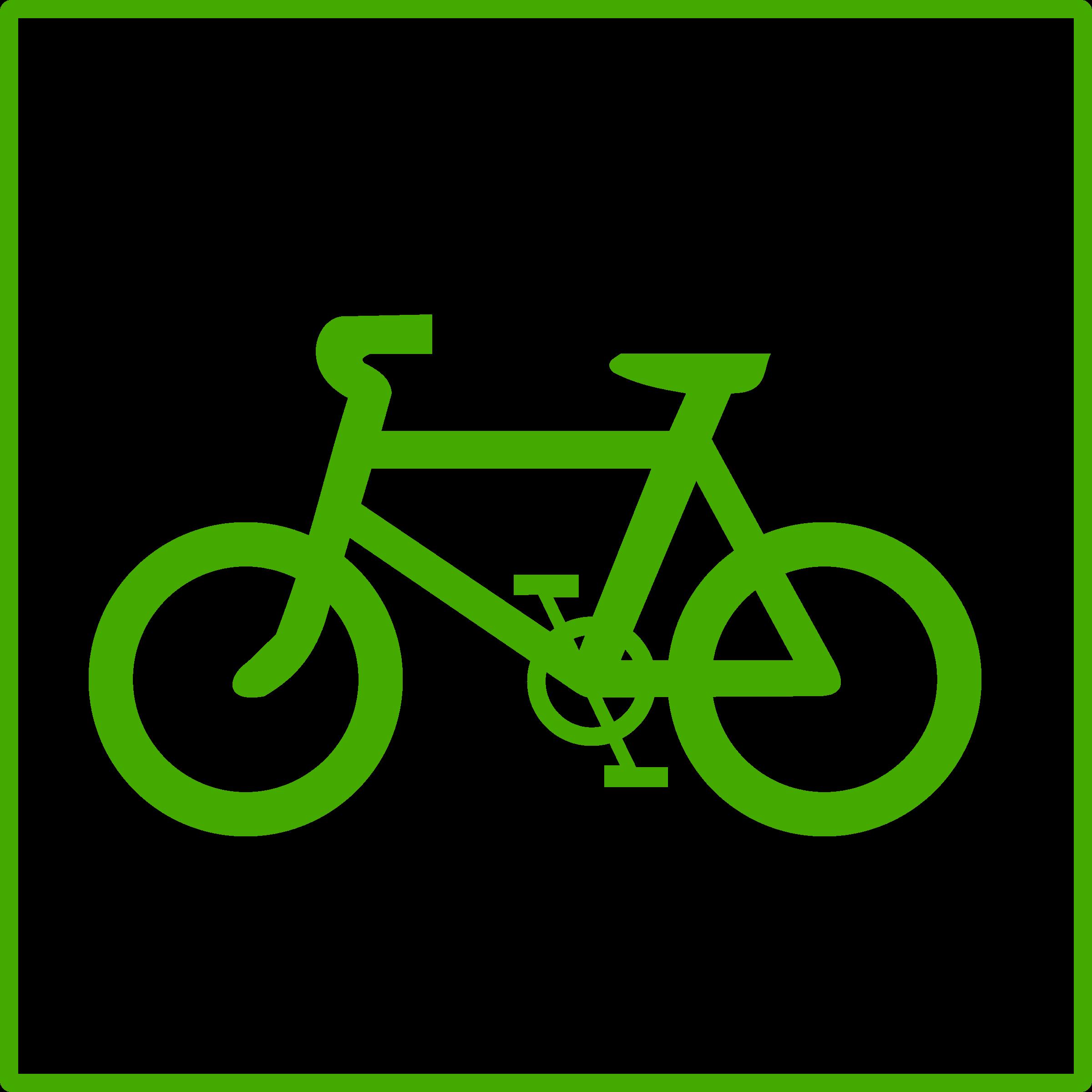 Bicycle green bike