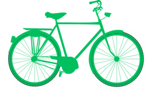 Clip art at clker. Clipart bicycle green bike