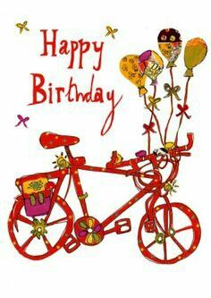 best cycling images. Bicycle clipart happy birthday