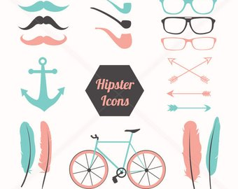 Bicycle clipart hipster. Clip art etsy feather
