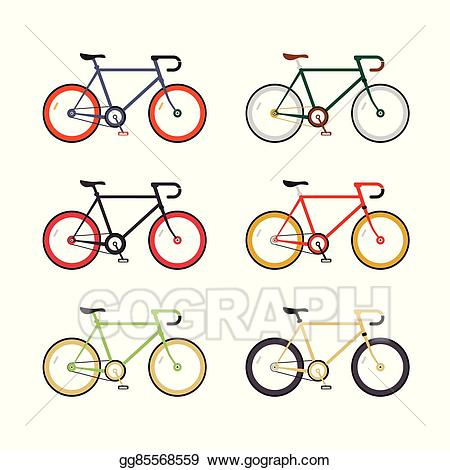 Vector art single speed. Bicycle clipart hipster