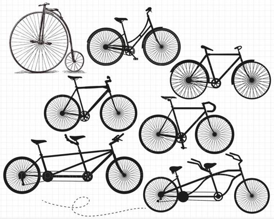 Choosing an ultra bike. Clipart bicycle hipster