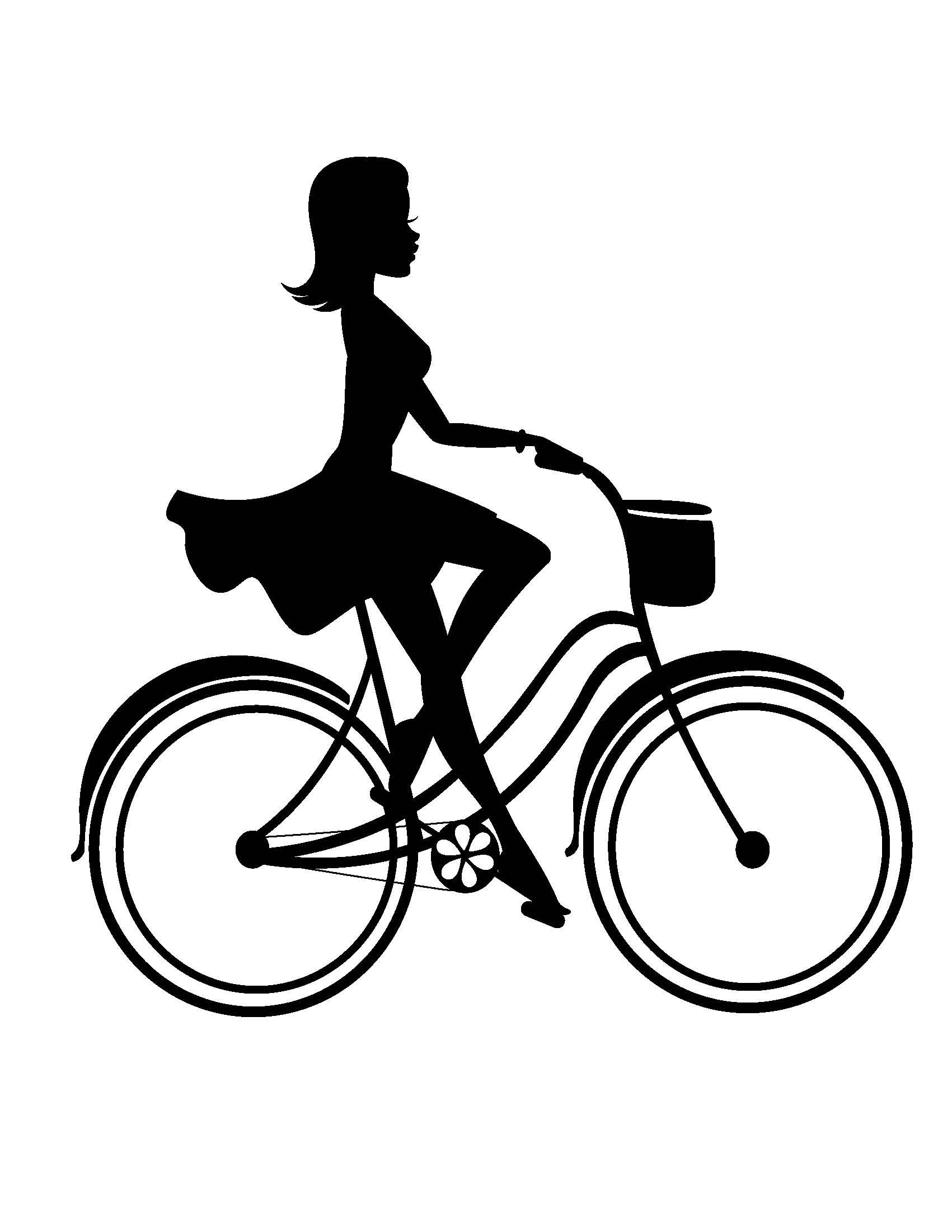 Clipart bicycle hobbies. Cycleandstyle com cycle chic
