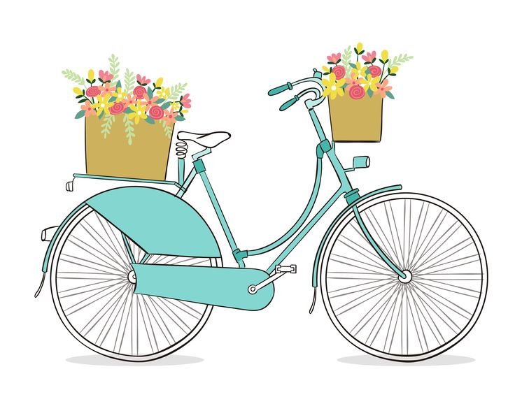 best bike clip. Bicycle clipart illustrated