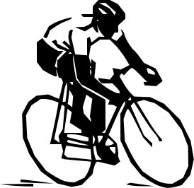 Biking clipart public domain. Free bike rider graphics