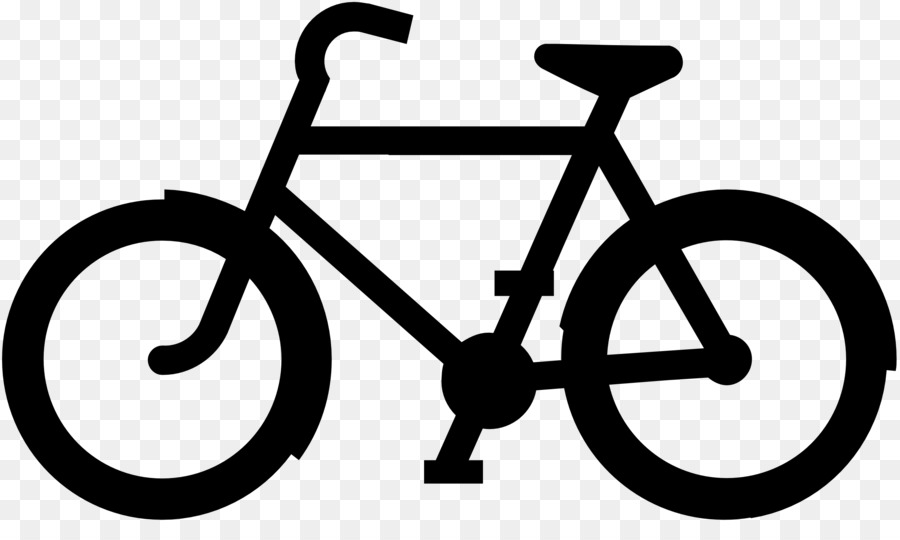 Bicycle black and white. Cycling clipart