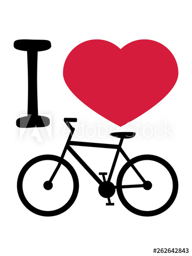 I herz liebe fahrrad. Bicycle clipart love