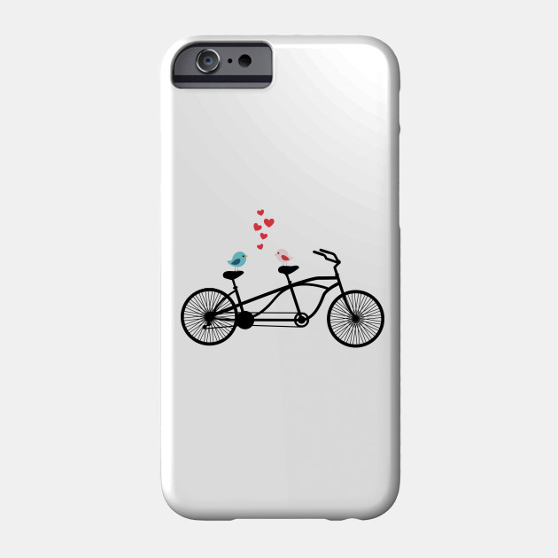 Bicycle clipart love. Tandem birds phone case