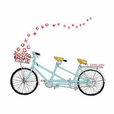 Free vintage clip art. Bicycle clipart love