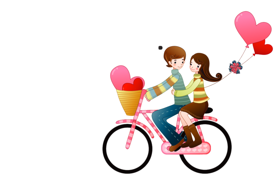 Bicycle clipart love. Background heart drawing pink