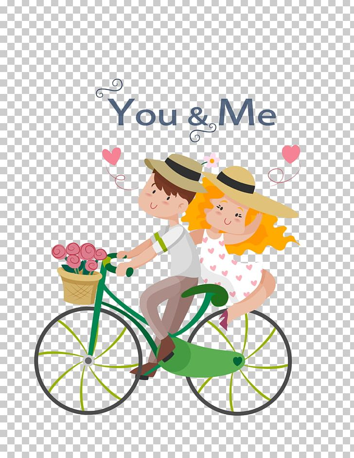 Bicycle clipart love. Couple illustration png area