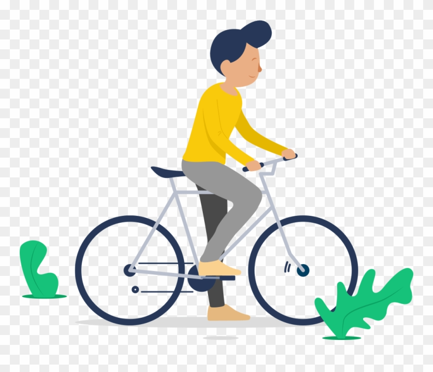 Cycle clipart man. Illustration of a riding