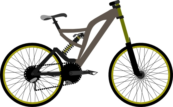 Clip art free vector. Bike clipart mountain bike