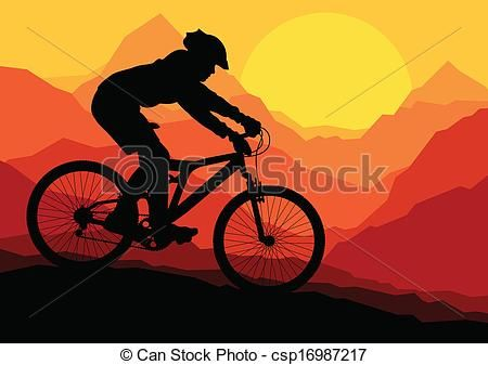 Bicycle clipart mountain bike. Vector clip art of