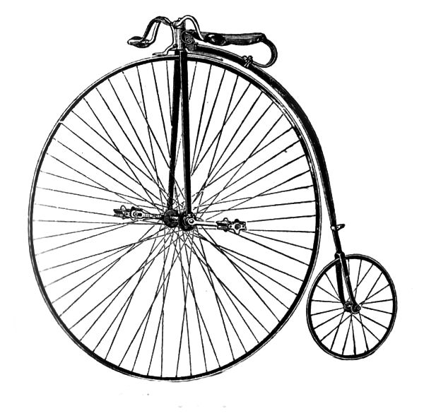 Bike clipart old fashioned. Free clip art bicycle