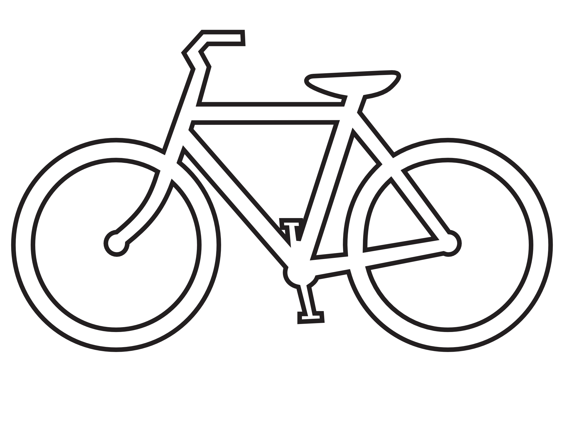 White clipart bike. Black and panda free