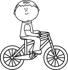 Black and white with. Bicycle clipart outline