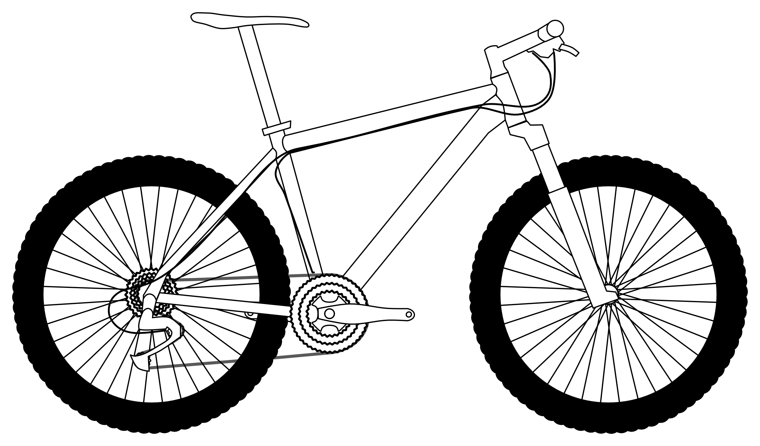 White clipart bike. Outline drawing at getdrawings
