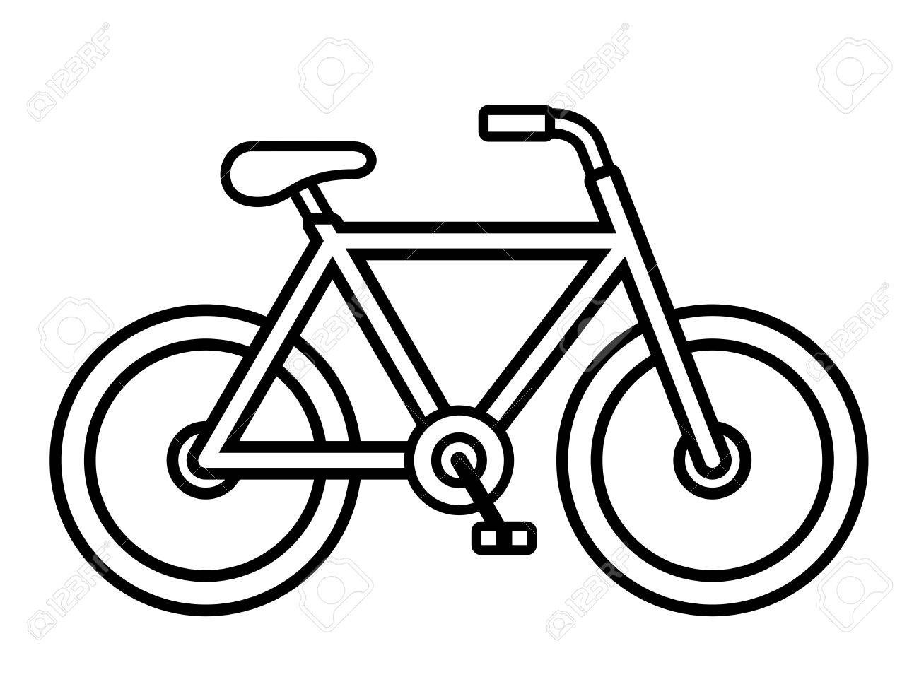 Bicycle drawing at getdrawings. Biking clipart outline