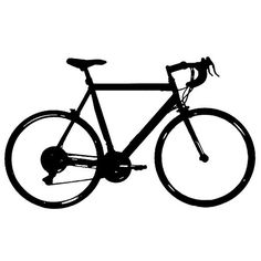 Bicycle clipart road bike. Free silhouette vector download
