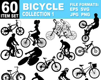 Etsy bicycle collection cycling. Biking clipart road bike