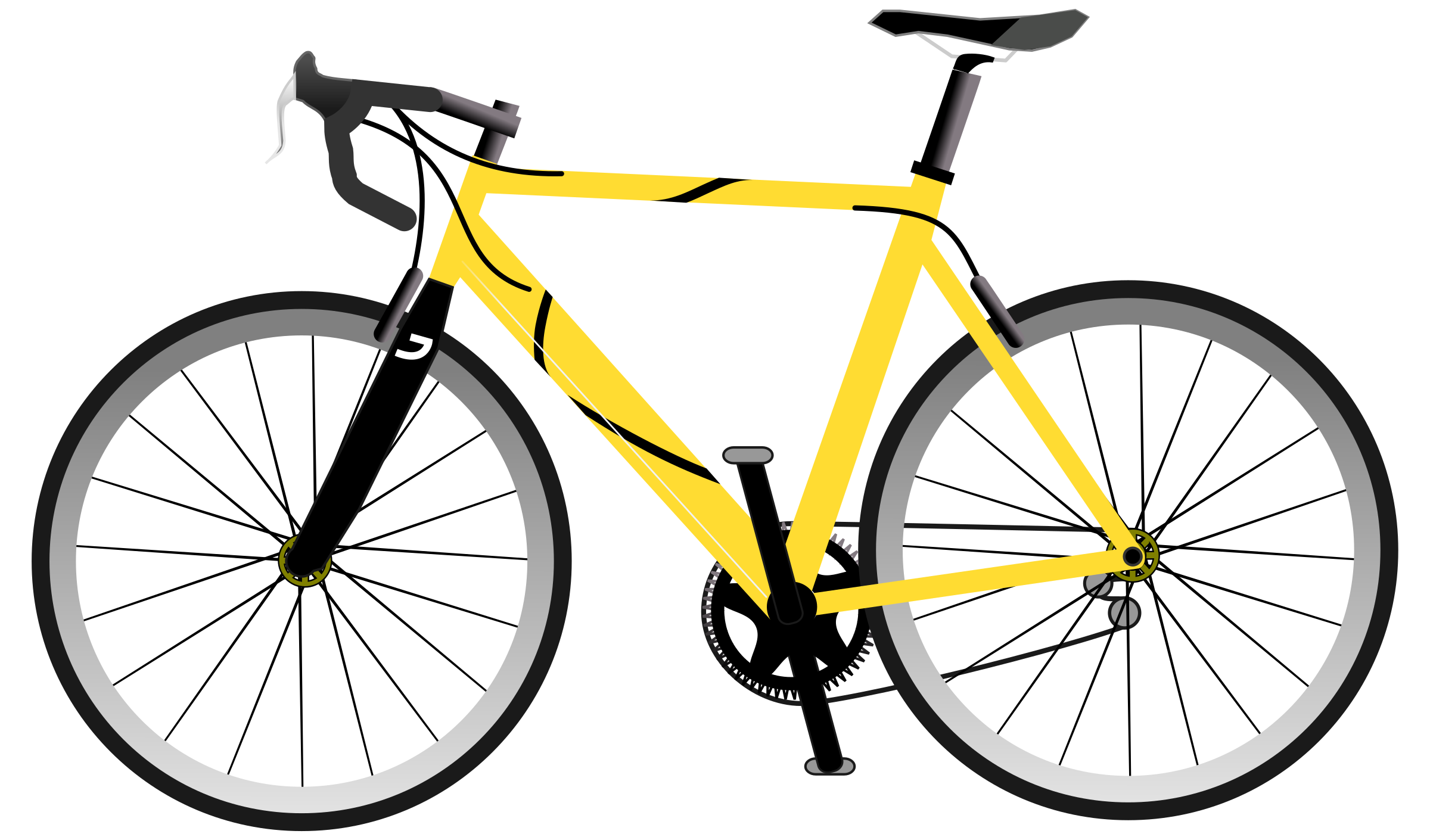 Clipart mountains cycling. Road bike silhouette at