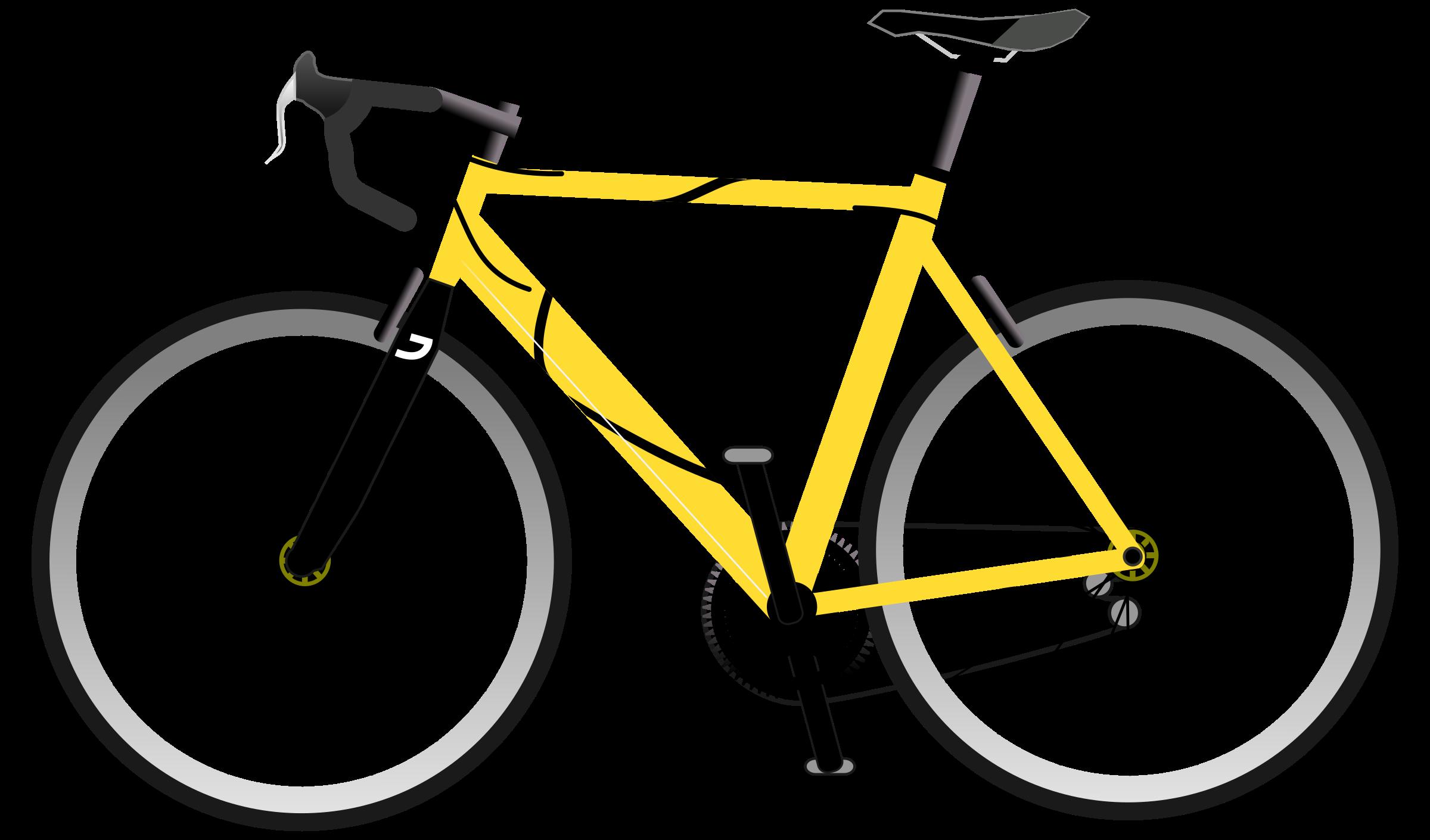 Bike clipart road bike. Silhouette at getdrawings com