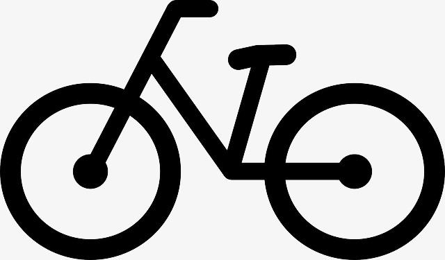 Bicycle clipart simple. Bike lines savings png