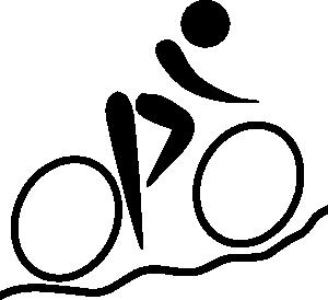 Biking clipart symbol. Olympic sports cycling mountain