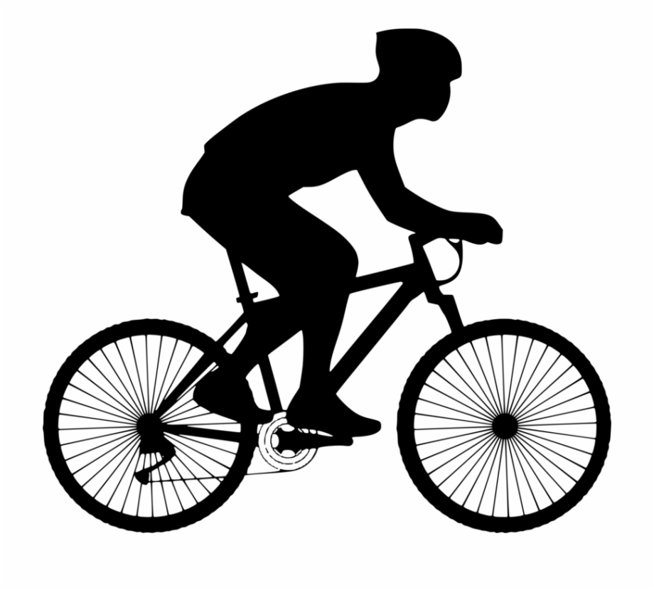 Bicycle sport person on. Bike clipart cycling