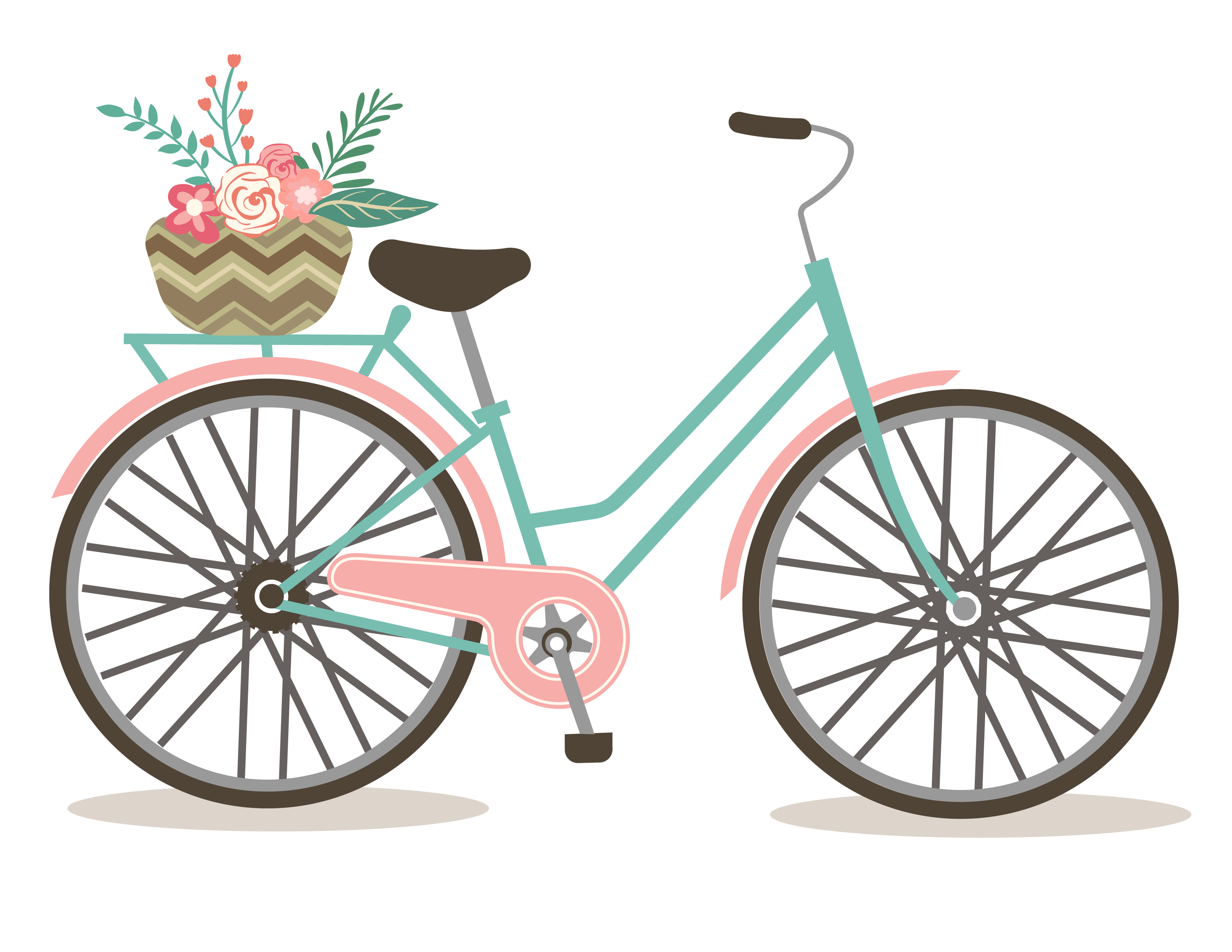 Free romantic bicycle clip. Biking clipart 4th july